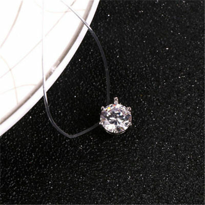 Fashion Crystal Necklace Invisible Line Zircon Clavicle Chain Women Accessories 7