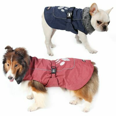 SMALL to EXTRA LARGE Dog Pet Waterproof Winter Rain Coat Warm Jacket Clothes 2