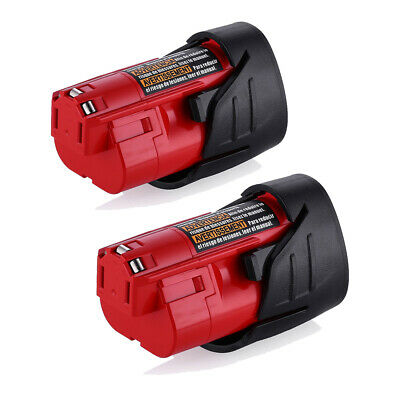 2X Replace For Milwaukee 48-11-2420 M12 Lithium-ion Compact Battery Pack 2.5Ah 11