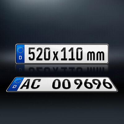 2 Kfz Kennzeichen   520 x 110mm   Nummernschild   Autokennzeichen   DHL-Versand 6