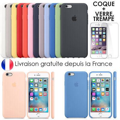 Cover Coque iPhone 6 7 8 Plus Xr Xs MAX X Slim Protection + Film Verre trempé 2