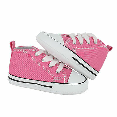f15aba41b39d81 ... 3 of 5 CONVERSE NEWBORN CRIB BOOTIES Pink 88871 FIRST ALL STAR BABY  SHOES SZ 1-4 4
