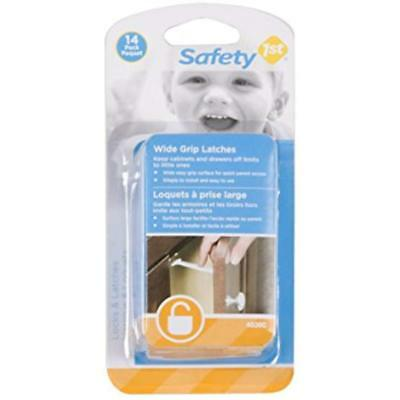 Safety 1st 14 Pack Wide Grip Cabinet Locks & Drawer Latches Child Proof - 72321 2
