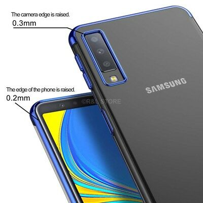 COVER per Samsung Galaxy A7 2018 CUSTODIA Tpu ORIGINALE ELECTROPLATING SLIM Case 5