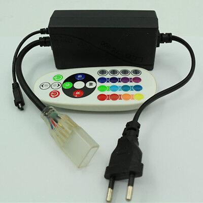 1-15M 5050SMD 230V RGB LED Stripe Set Lichtleiste Licht Schlauch Streifen IP65 6