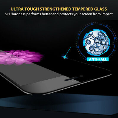 For Apple iPhone 7 8 Plus - 6D Full Cover Curved Tempered Glass Screen Protector 4