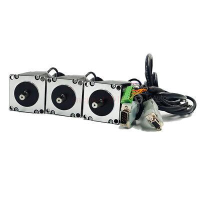 4Axis 3NM Closed Loop Stepper Drive Kit Nema23+CNC Controller+DC Power+Handwheel 7