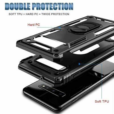For Samsung Galaxy A70  A71 Ring Holder Case Heavy Duty Cover Screen Protector 2