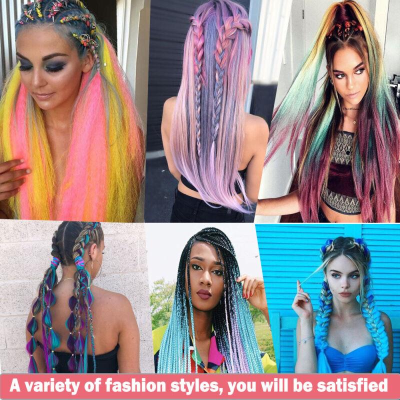 Colored Crochet Hair Extensions Kanekalon Hair Synthetic Braids Jumbo Braiding 2