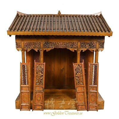 19 Century Antique Chinese Wooden Carved Altar/Buddha House/Shrine 10