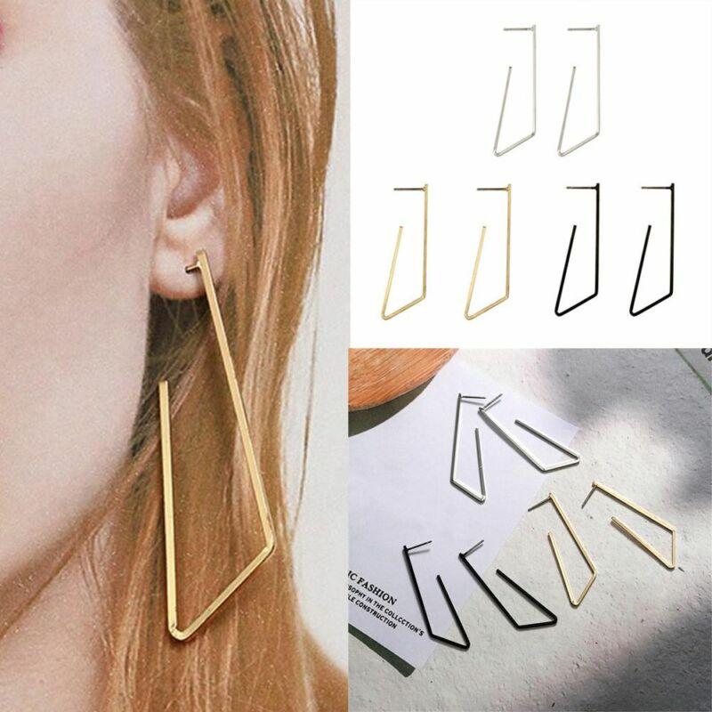 Fashion Punk Jewelry Geometric Dangle Drop Earrings Metal Statement Big Gold 7
