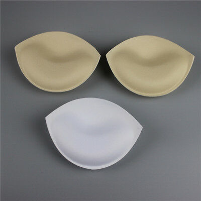 1 PAIR INSERT Sewing In Push Up Bra Cup Pad Removable Foam Pad for  Dressmaking