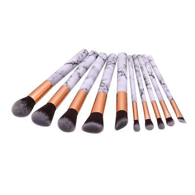 10 Kabuki Make up Brushes Set Cosmetic Foundation Face Powder Makeup Brush AU 7