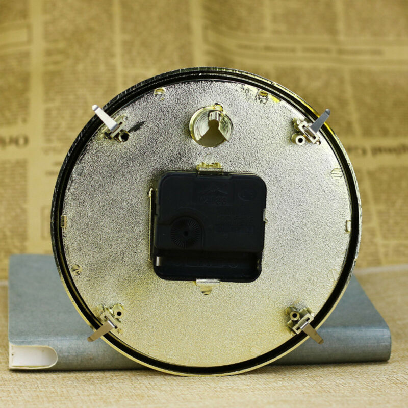 65mm/190mm Clock Quartz  Mechanism Movement Insert Numeral White Face Gold Trim 4