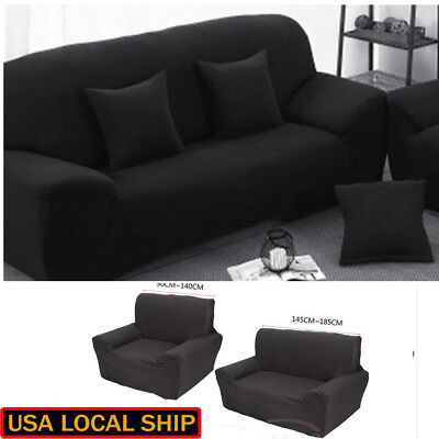 1-3 Seater Stretch Loveseat Sofa Couch Protect Cover Slipcover Washable Elastic 5