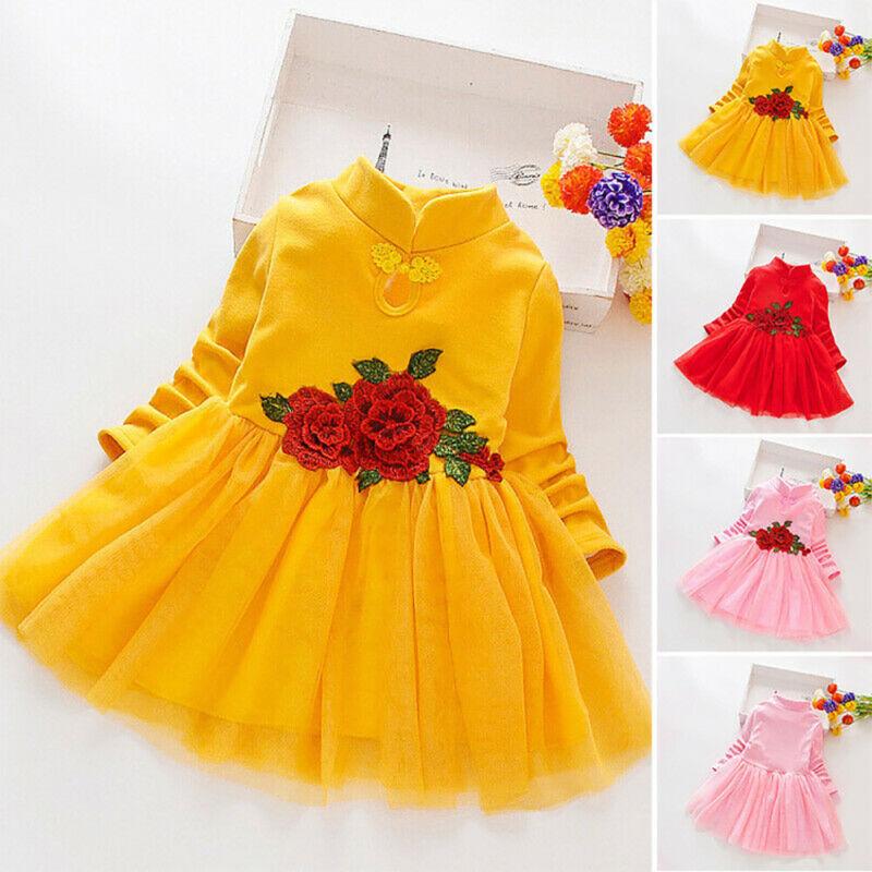 Mädchen Kinder Blume Prinzessin Kleid Hochzeit Geburtstag Party Kleider Freizeit Eur 12 39 Picclick De