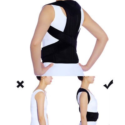 Posture Corrector Brace Women Men Full Back Support Clavicle Shoulder Belt Body 7