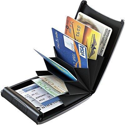 10282e34a59f 2 sur 5 TRU VIRTU Cuir Aluminium étui pour cartes de crédit Porte-cartes  bancaires