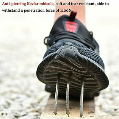UK Safety Shoes for Men Women Steel Toe Trainers Lightweight Work Shoes Sports 8
