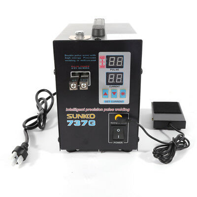 NEW Handheld SUNKKO 737G Battery Spot Welder with Pulse Current Display 800A 6