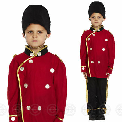 Boys Busby Guard Fancy Dress Costume London Royal Soldier Queens Childs Buzby