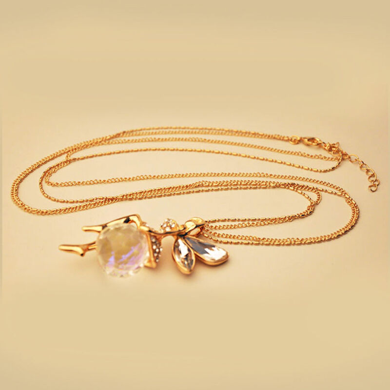 Fashion Women Crystal Fairy Angel Wing Pendant Long Chain Sweater Necklace Gift 7