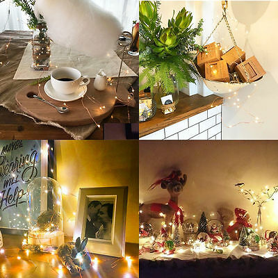 LED String Copper Wire Fairy Lights Battery USB 12V Xmas Party Fairy Decor Lamp 5