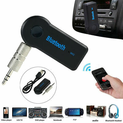 Wireless Bluetooth Adapter 3.5mm Aux Audio Music Receiver Stereo Car Mic 6