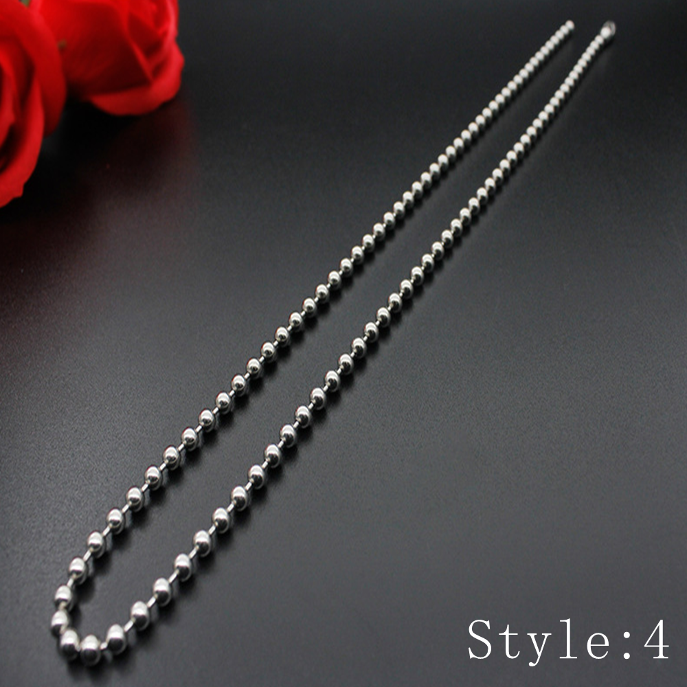 Gift Man Women Fashion 316L Stainless Steel 2mm-5mm Silver Chain Necklace 5