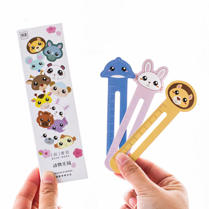 30 Pcs Kawaii Fun Animal Farm Cartoon Bookmark Paper For Books Babys Gifts Cute