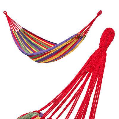 Hamac de jardin double grand lit suspendu camping balancelle transat terrasse 4