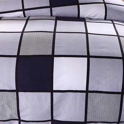 Checked Duvet Doona Quilt Cover Set Queen King Single Double Size Pillowcase New 8