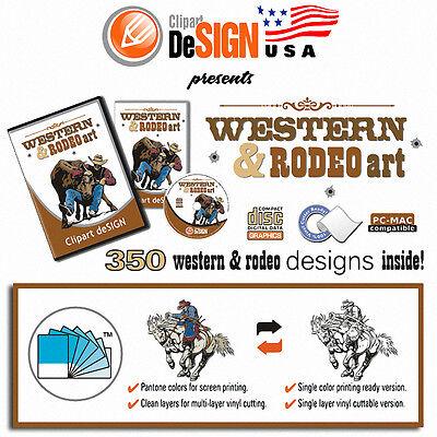 Cowboy Rodeo Horse Clipart-Vinyl Cutter Plotter Images-Eps Vector ...