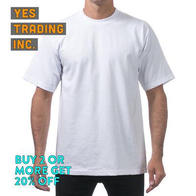 fa2ba99c ... 12 Proclub Pro Club Mens Plain T Shirt Heavyweight Shirts Short Sleeve  Tee Big Tall 2