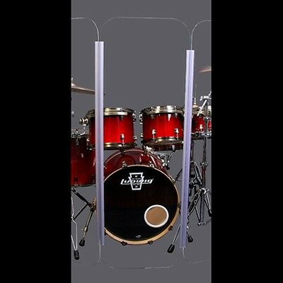 Drum Shield DS4 L 5 Section Drum Shield Acrylic Drum Panels with Flexible Hinges 3