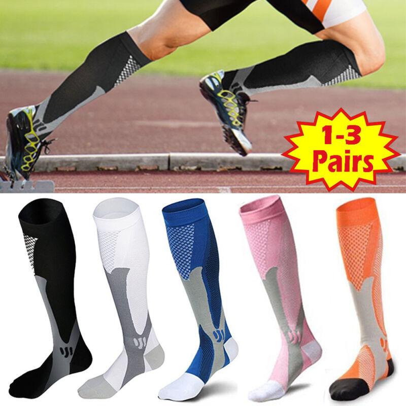 15-30mmHg Medical Compression Socks Support Stockings Travel Flight Socks AU 3