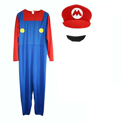 Mens Boy Kids Adult Super Mario Luigi Brothers Costumes Hat Fancy Party 5