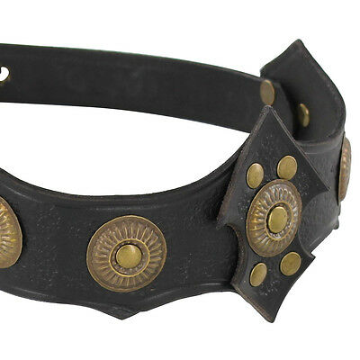 Ornate Warrior Queen Tawny Leather Headband