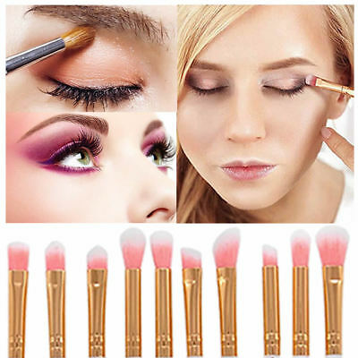 10 PCS Eyeshadow Make up Brushes Eyebrow Eyeliner Brushes Eye Lip Brusher Tool 2