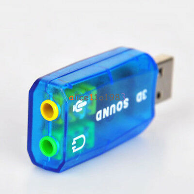 CM108 Chipset USB 2.0 to 3D AUDIO SOUND CARD ADAPTER VIRTUAL 5.1 CH CA