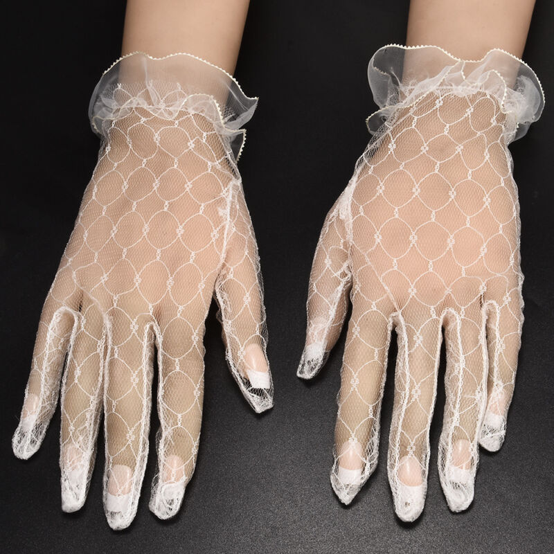 Hot 1Pair Ivory Lace Wedding Gloves Women's Wedding Bridal Party Gloves JT 6