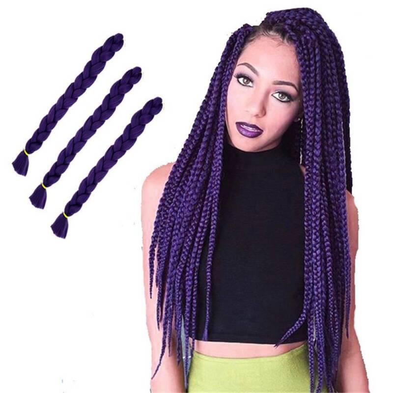 Colored 82'' Synthetic Kanekalon Jumbo Braiding Hair Extension Afro Twist Braids 6