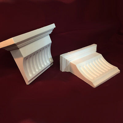 Fluted Corbels sold in pairs - Plaster Corbels 3 Sizes. Handmade in the UK 3