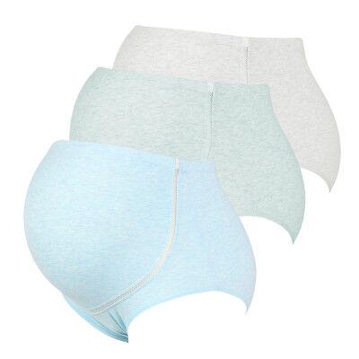 3 Packs Women High Waist Adjustable Maternity Pregnant Panties Briefs Underwear 4