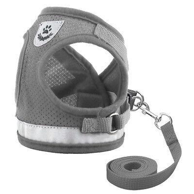 Cat Walking Jacket Harness Leash Escape Proof Adjustable Pet Puppy Dog Mesh Vest 4