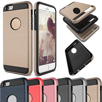 Dustproof Shockproof Slim Brushed Hybrid Rubber Hard Case For iPhone 5 5s SE 2