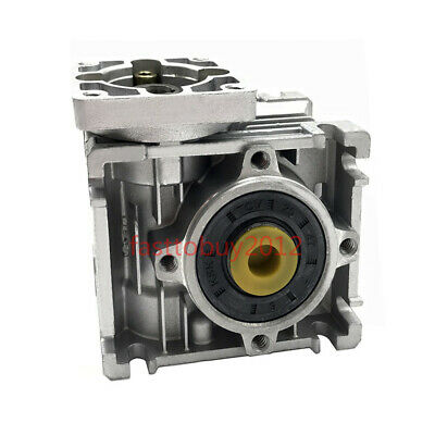 NMRV030 NEMA23 Gearbox 30:1 Worm Geared Speed Reducer for CNC Stepper Motor 4