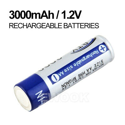 OZ 4-20X BTY AA Rechargeable Battery Recharge Batteries 1.2V 3000mAh Ni-MH 5