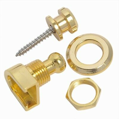1 Pcs Golden Schaller-style Straplock Round Head Strap Lock Guitar Parts 2