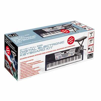 61 Key Full Size Digital Electronic Keyboard Kit Inc Stand, Stool and Headphones 5